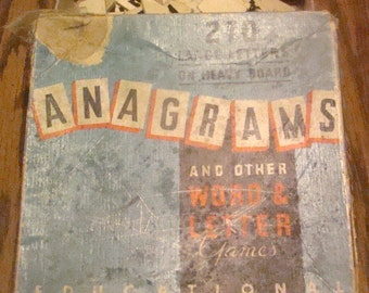 Vintage Anagrams Game (NOT COMPLETE)