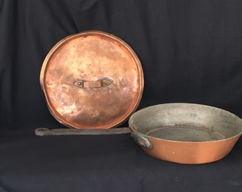 Antique French frying pan