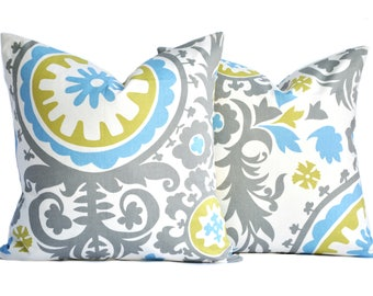 Two high quality pillow covers, Medallion, decorative throw pillow, accent pillow, pillow case, DIFFERENT SIZES AVAILABLE