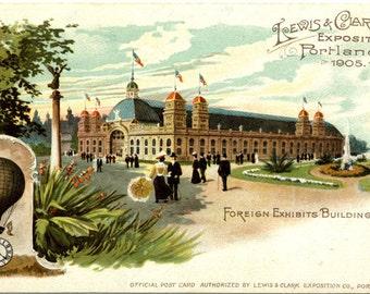 Lewis & Clark Exposition Portland Oregon Vintage Postcard 1905 - unused