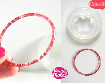 Kids Thin Bangle Clear Silicone Mold-Mold to create Kids Bangles-house of molds super clear mold
