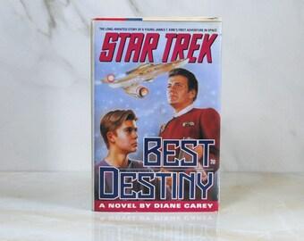 Vintage Star Trek Best Destiny, Hardback, Book, 1992, Diane Carey, James Kirk, Enterprise, Mr Spock, Dr McCoy, Admiral Kirk, Retirement