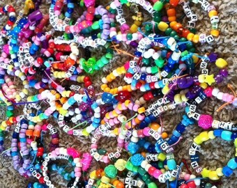 20 PLUR  Kandi Bracelets