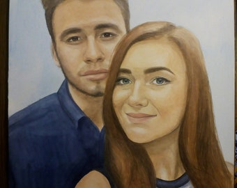 Custom  Portraits watercolor to order