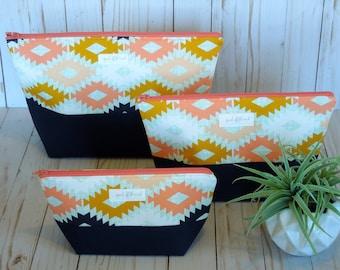 Aztec Wide-Open Cosmetic Bag Set