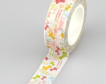 Colorful Thumbtack Washi Tape, Embellishment, Craft Tape, Decorative Tape, Printed Tape, Scrapbooking Tape