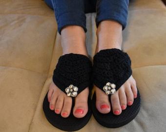 Boho Crochet Flip-Flop Pattern