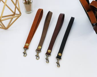 Leather Wristlet Key Chains, Genuine Leather,