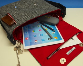 "iPad Pro 12.9"" Messenger Bag with Harris Tweed option"