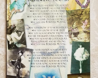 Forever Young Bob Dylan Lyrics Decorative Plaque