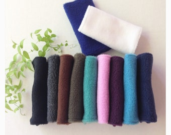 Comfortable Solid Color Fleece Accessory Padding and Cover - Seat Belt Strap Covers - 11 solid fleece color available