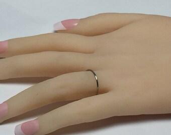 Platinum band, platinum ring, skinny band, thin platinum ring, 950 platinum, halo ring