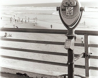 Look Out ViewFinder beach pier photograph seashore nautical oceanside california