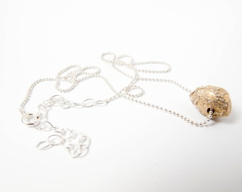 bronze sinlge Seed necklace