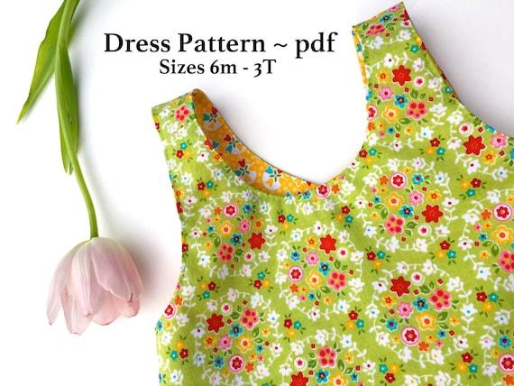 Dress Tutorial Pinafore Dress Tutorial Pdf Pattern Reversible