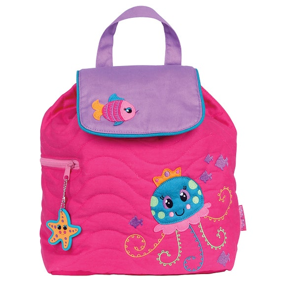 Personalized Stephen Joseph Toddler Quilted JELLYFISH Backpack, Monogrammed Kids Backpack, Children's Backpack, Preschool Backpack