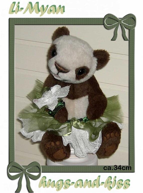 Schnittmuster/Pattern für Panda Li-Myan ca.34cm