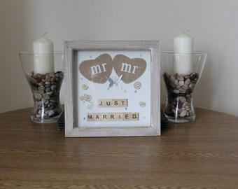 Mr & Mr 8x8 Scrabble Frame