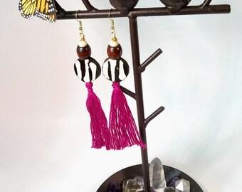 Mudcolth Tassel Earrings