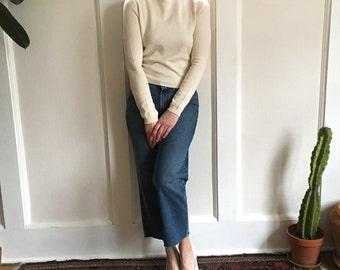 Cream Silk Cashmere Blend Sweater xs small