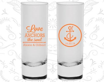 Love Anchor the Soul, Shooter Glasses, Anchor Shooters, Nautical Shooters, Custom Shooters (40)