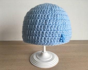 Blue Baby Hats & Free Bracelet