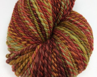"Handspun Yarn Worsted Targhee 265 yds. ""Bounty"""