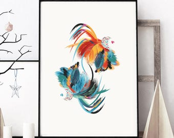 Elton John Poster - The Peacock. Inspired by Elton John's crazy feather outfits. Illustrated Art Print Posters. Music Art Prints of London