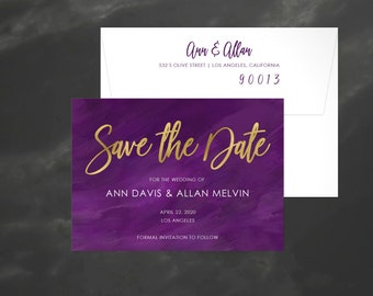 Watercolor Save the Date | Save our Date | Modern Wedding Announcement | Watercolor STD | Save the Date Card | Wedding STD | 18020
