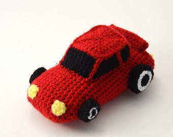 Race Car Crochet Pattern, Race Car Amigurumi, Sports Car Crochet Pattern, Sports Car Amigurumi, Cars Crochet Pattern, Sports Cars Amigurumi
