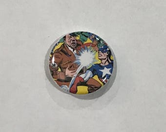 Captain America Pinback Button