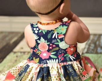 Knit Baby Lucy Bodice Add On – MUST Purchase Woven Version for Skirt. PDF Sewing Patterns for Sizes NB-24 Months