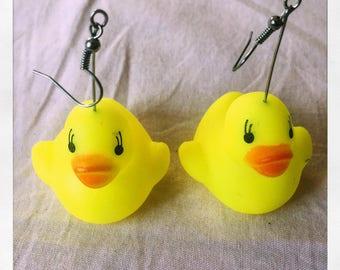 NEW squeaky ducky earrings - australian, homemade, hypoallergenic
