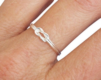 Sterling Silver Ring, Silver Celtic Knot Ring, Silver Love Knot Ring, Silver Knot Ring, Silver Band Ring, Dainty Ring, Silver Tiny Ring