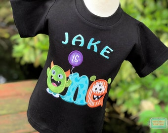 Personalized Monster First Birthday Shirt