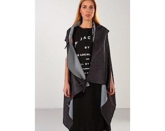 Loose fit vest, women's sleeveless denim, sleeveless in jeans, women's overcoat