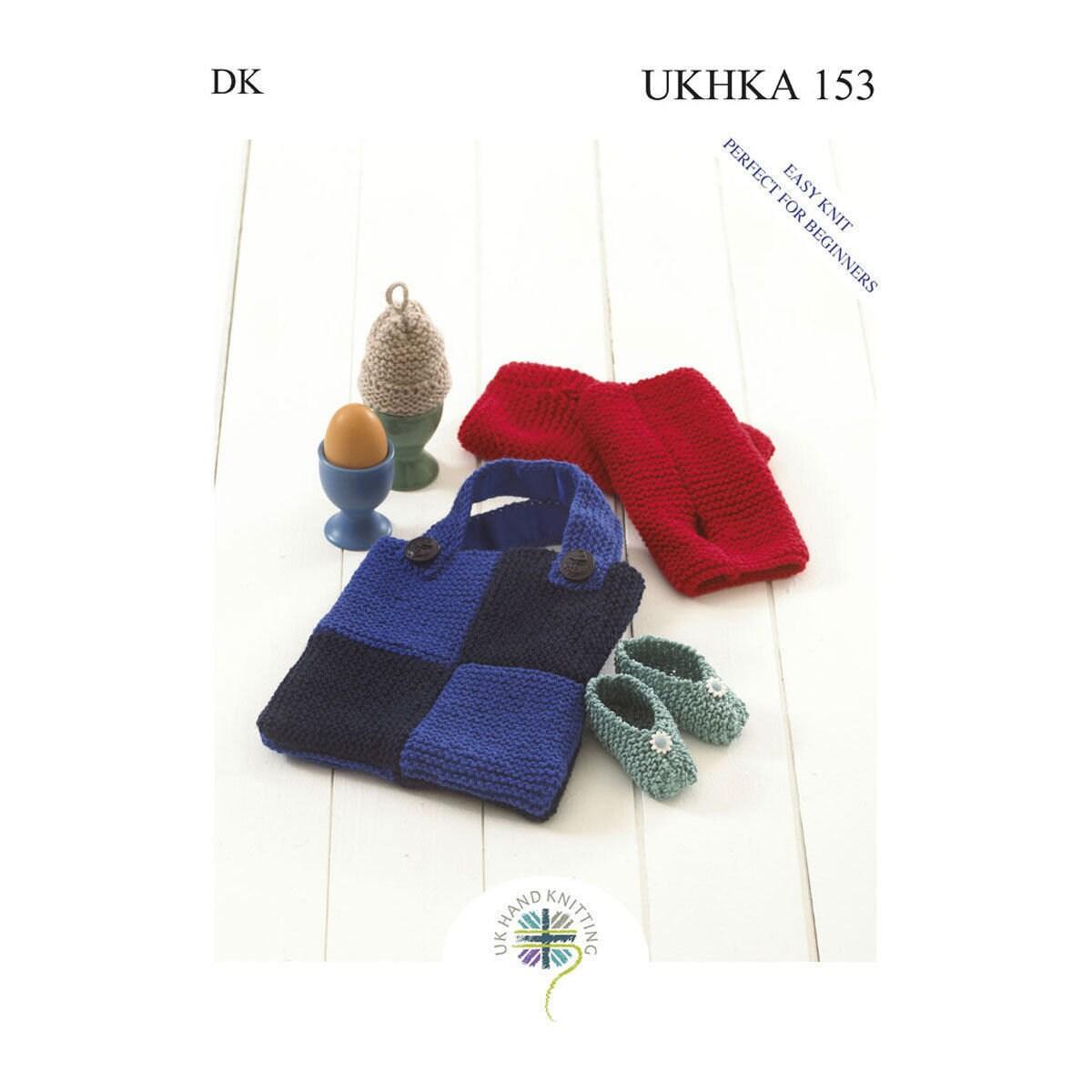 UKHKA 155 knitting pattern for beginners hat cushion hot water