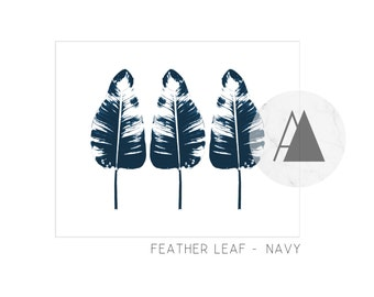 D I G I T A L A R T   Feather leaf trio