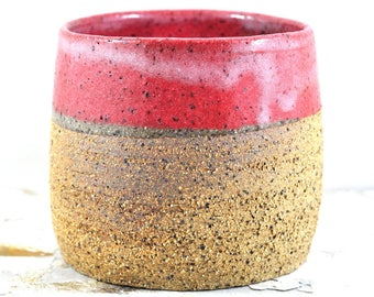 Handmade Ceramic Bowl - Textured Rustic Serving Bowl - Hug Mug - Soup Mug - Vase - Red - Unique Pottery - Home Decor by Dawn Whitehand