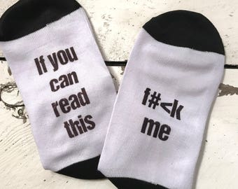 F # CK Socks Ladies Socks If you can read this