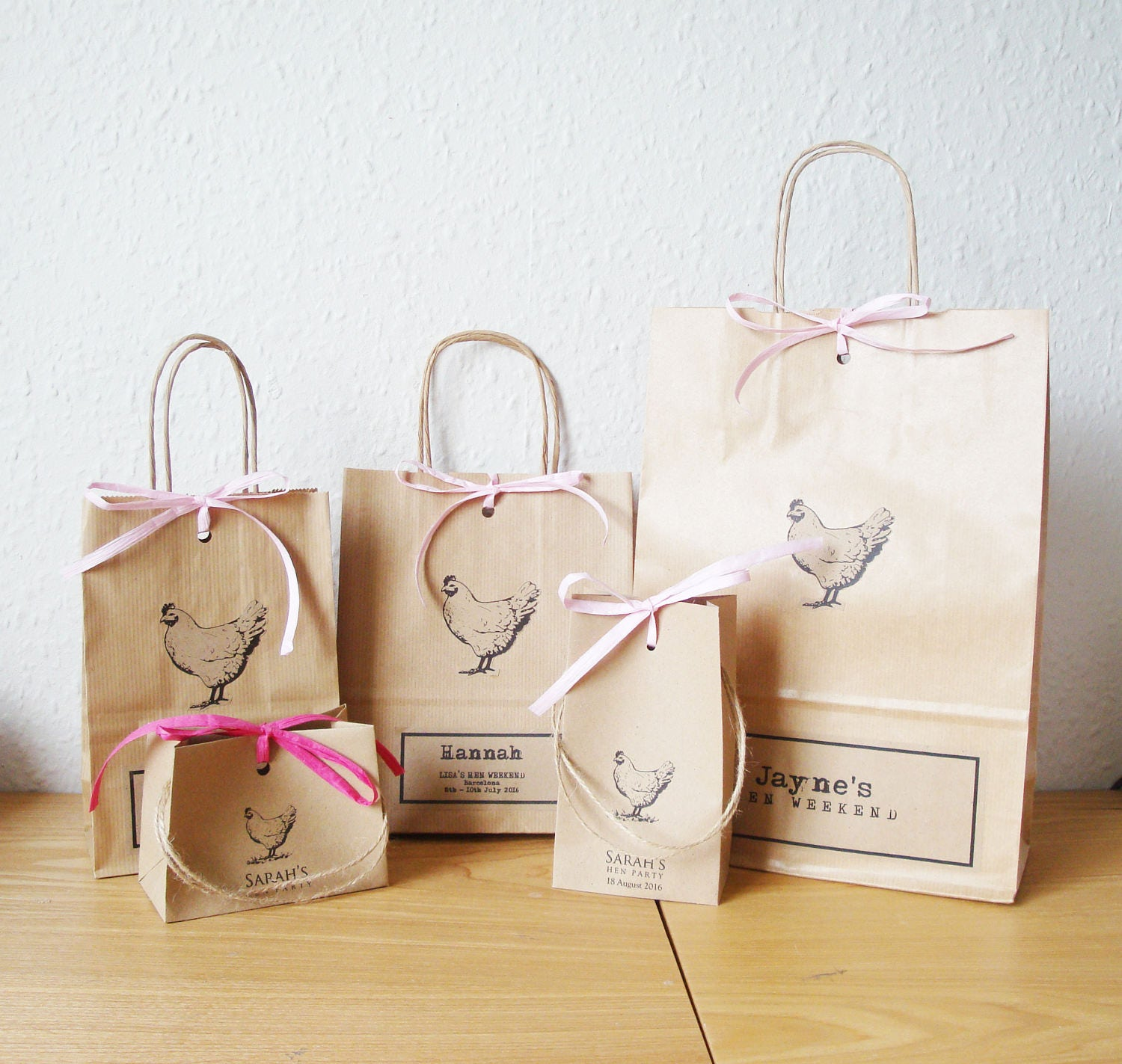 Hen party bag LARGE 23cm x 32cm tall x 10cm personalised