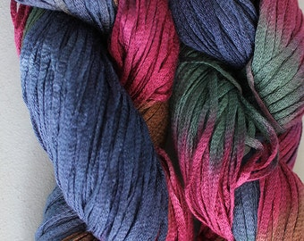 Junco, Rayon Tape Ribbon, Hand dyed  150 yds - Renaissance