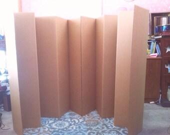 Dorm Room Divider Folding 6 Panel Privacy Screen 65 Tall