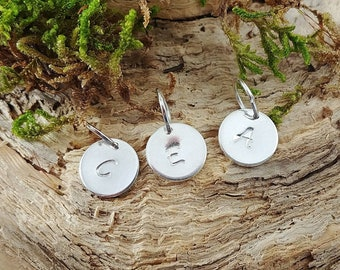 Sterling Silver Monogram Disc Add-On