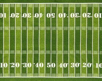 Robert Kaufman - Sports Life 3 - Grass Football Field Panel - Green - Fabric by the Panel SRK1461347