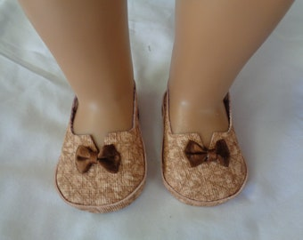 "Beige Brown 18"" Doll Sandals-Shown on my american girl doll"