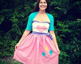 My Little Pony Custom Pinkie Pie Equestria Girls inspired dress and shrug set  MLP FIM deluxe