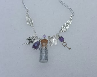 Forest Faerie Bottle Charm Necklace