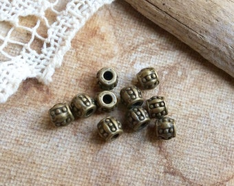 10x Brass Spacer Metal Beads, Charm, Findings, Jewellery Making C130