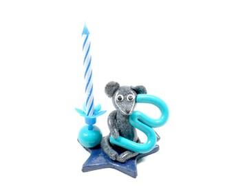 3 birthday candle Blue Boy
